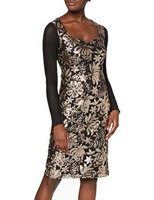 Joe Browns Women's Sophisticated Sequin Body Con Floral Long Sleeve Dress,8