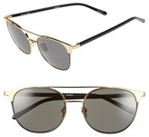 Linda Farrow 54mm 22 Karat Gold Trim Sunglasses