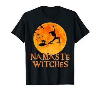 Namaste Zum2 Halloween Yoga Witches Shirt Warrior Pose I Halloween Yoga T-shirt T-Shirt