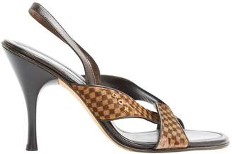 Louis Vuitton \N Brown Pony-style calfskin Sandals