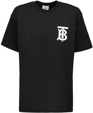 Burberry Emerson Tb Logo Cotton Jersey T-shirt