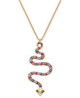Kate Spade Gold-Tone Colored Cubic Zirconia Snake Pendant Necklace