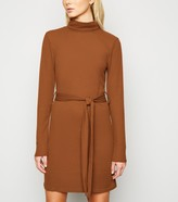 New Look Brave Soul Roll Neck Ribbed Dress