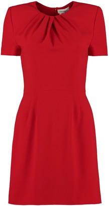 Alexander McQueen Short Sleeves Cady Dress