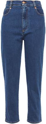 See by Chloe Cropped High-rise Slim-leg Jeans