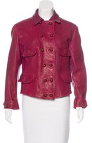 Emporio Armani Leather Button-Up Jacket