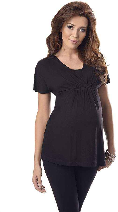 Purpless Maternity Comfortable 2in1 Maternity and Nursing Top Tunic 7042