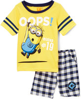 Children's Apparel Network Despicable Me 'Oops!' Minions Crewneck Tee & Shorts - Boys