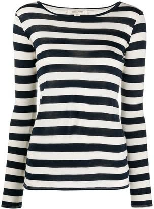 Nili Lotan striped long-sleeved cotton T-shirt