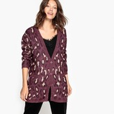 La Redoute Collections Leopard V-Neck Cardigan