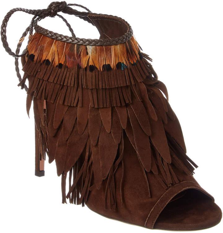 Aquazzura Pocahontas 105 Suede Boot