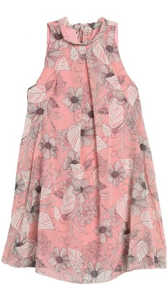 Robbie Bee Floral Tie Back Sleeveless Shift Dress