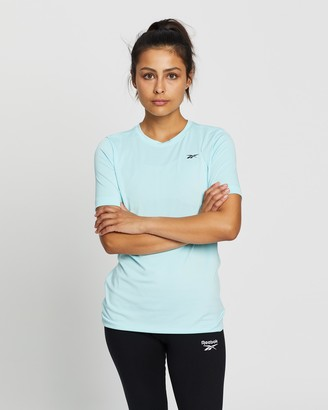 Reebok Performance - Women's Blue Short Sleeve T-Shirts - Workout Speedwick Tee - Size S at The Iconic