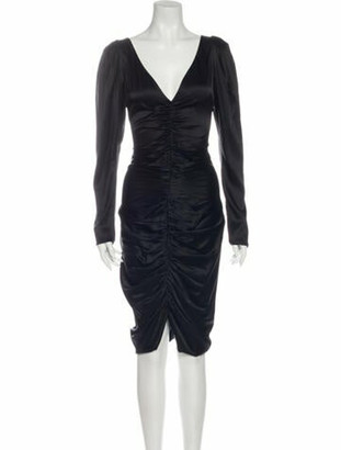Caroline Constas Silk Midi Length Dress w/ Tags Black