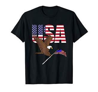 Flying American Bald Eagle American Flag USA Gift T-Shirt