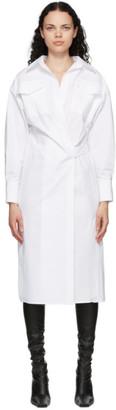 Proenza Schouler White Cotton Poplin Shirt Dress