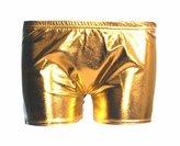 Lush Lane Womens Wetlook Liquid Shiny Metallic Shorts Hot Pants