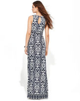 INC International Concepts Petite Dress, Sleeveless Ikat Maxi