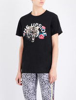The Upside Tiger Rose cotton-jersey T-shirt