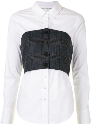 Veronica Beard Corset Detail Shirt