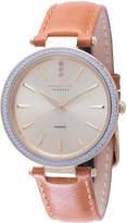 Johan Eric Fredericia Quartz Diamond Tan Leather Strap Watch