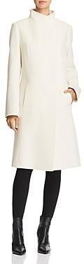 Cinzia Rocca Wool & Cashmere Hidden Snap Coat