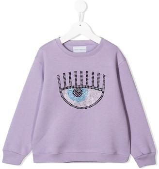 Chiara Ferragni Kids Rhinestone-Embellished Sweatshirt
