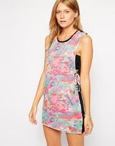 Insight Static Print Lace Up Detail Beach Dress