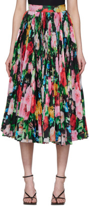 Richard Quinn SSENSE Exclusive Black Floral Skirt