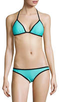 Design Lab Lord & Taylor Reversible Triangle Bikini Top