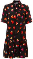 Moschino heart print shirt dress - women - Silk/Cotton/Polyester - 40