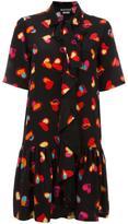 Moschino heart print shirt dress - women - Silk/Polyester/Cotton - 40