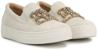 Ermanno Scervino Embellished Slip-On Sneakers