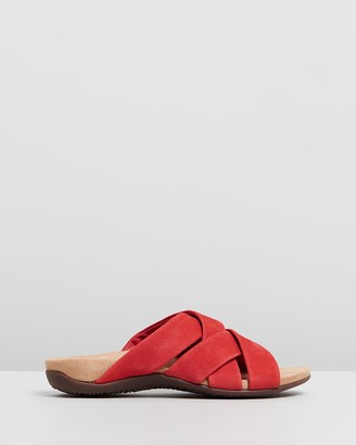 Vionic Women's Red Flat Sandals - Juno Slide Sandals - Size One Size, 6 at The Iconic