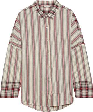 Mes Demoiselles Ternoc Gathered Striped Cotton Shirt