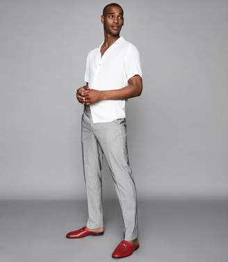 Reiss Hoffman - Striped Casual Trousers in Ecru