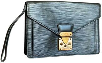 Louis Vuitton Black Leather Clutch bags