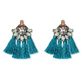 SUGARFIX by BaubleBar Crystal Multi Tassel Statement Stud Earrings