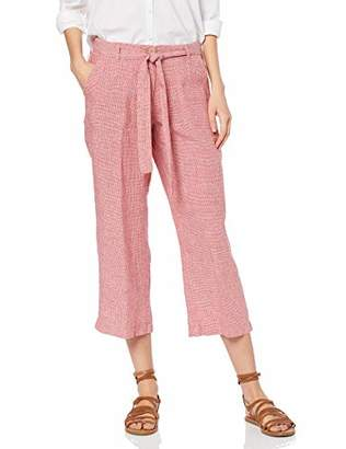 Brax Women's Maine S Linen Leinenhose Verkürzt Mit Bindegürtel Trouser, (Summer Red 43), (Size: 38)