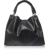 Karl Lagerfeld K/Slouchy Black Leather Shopper Bag