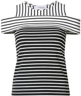 Derek Lam 10 Crosby cut-off striped blouse
