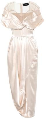 Simone Rocha Silk-satin midi dress