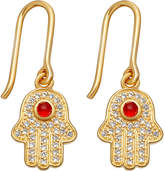 Astley Clarke Biography 18ct yellow-gold plated hamsa earrings