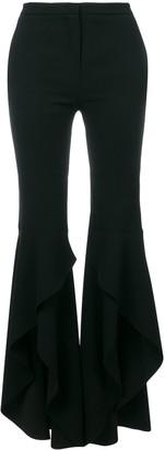 Pinko Asymmetric Frill Cuff Trousers