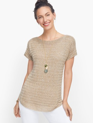 Talbots Chunky Knit Linen Sweater- Marled