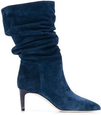 Paris Texas Ruched Mid-Calf Boots