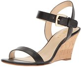 Nine West Women's Kiani Leather Wedge Sandal