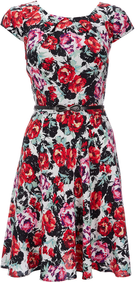 Wallis Ivory Floral Dress