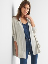 Gap French terry open-front cardigan