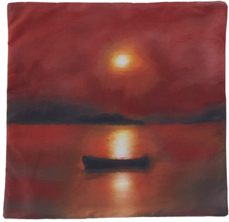 Serapis SSENSE Exclusive Multicolor Fisherman Dawn Print Pillow Case